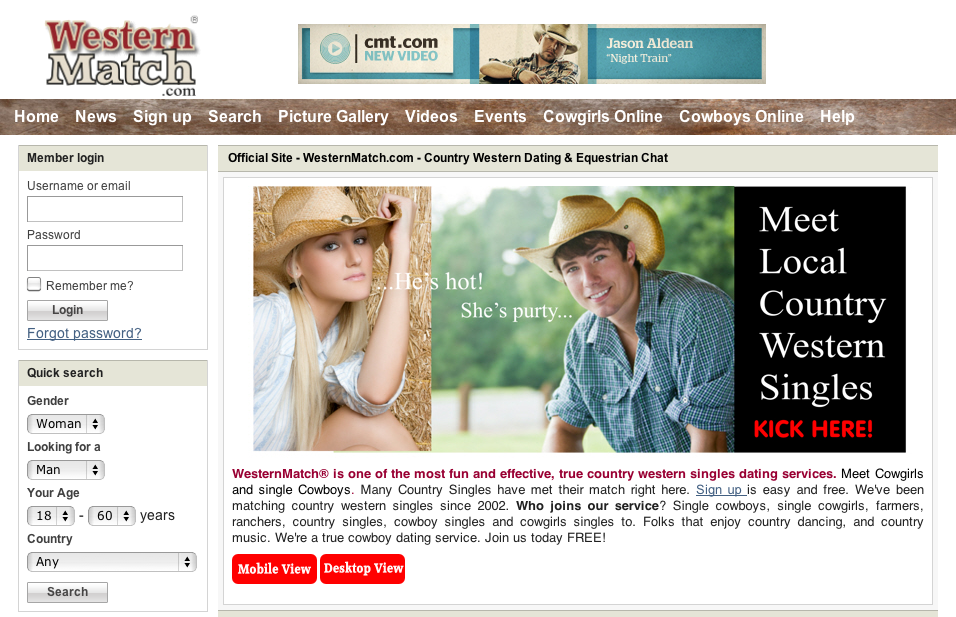 all country online dating Official site 100% free to read mail country western dating site for single country folk, cowboys, cowgirls, farmers, and ranchers.
